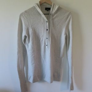 J.Crew Cashmere Button Front Hoodie